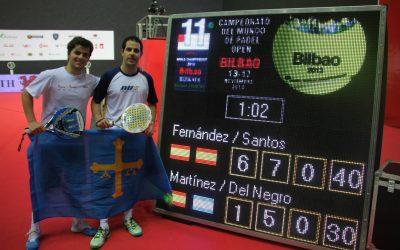 1ª Semifinal Cto Mundial Open por Parejas 2013 Bilbao, Fernández-Santos vs Martínez-Del Negro