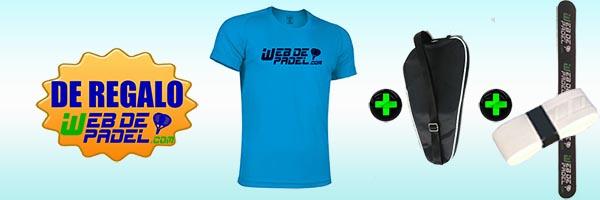 De regalo con webdepadel.com camiseta tecnica, protector, funda oficial y overgrip de máxima calidad