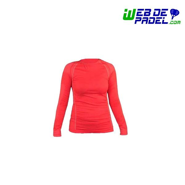Camiseta termica Mujer Roja Kripton
