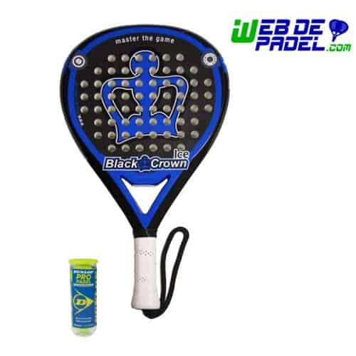 Pala de padel Black Crown Ice bolas