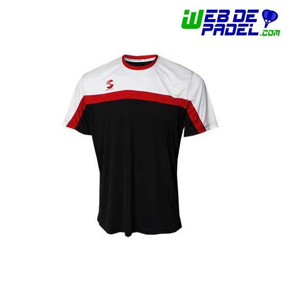 Camiseta Softee Padel Club Negro y Blanca