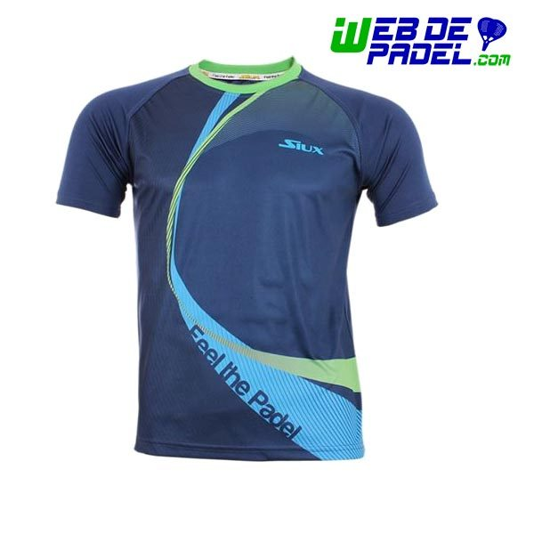 Camiseta tecnica padel Siux Linked Azul