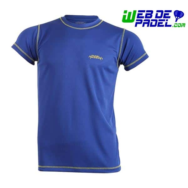 Camiseta hombre Padel Session Amarillo y Royal