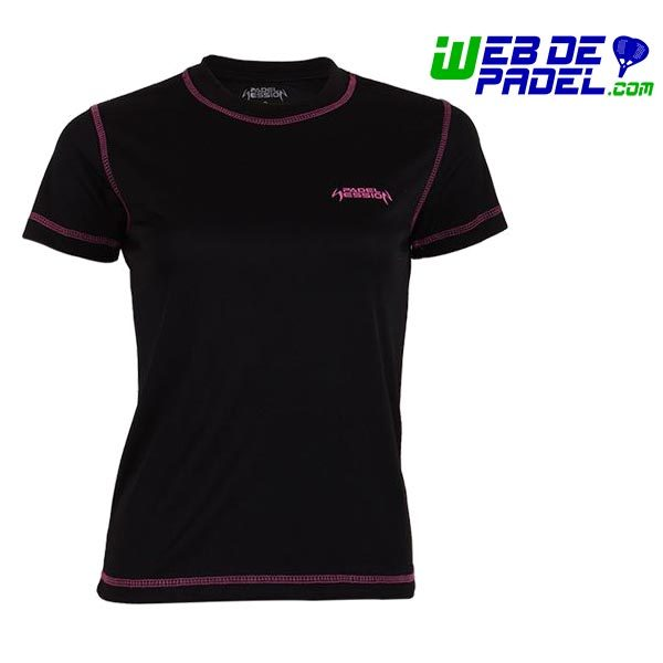 Camiseta mujer Padel Session Negra