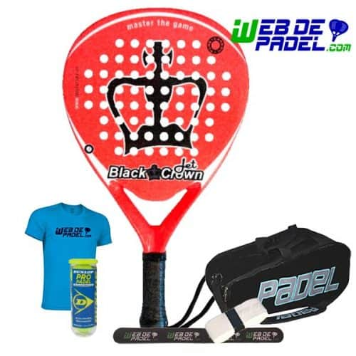 Pala de padel Black Crown Jet