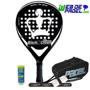 Pala de padel Black Crown Winner