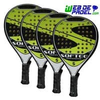 Pack pala de padel Softee Acid New 4