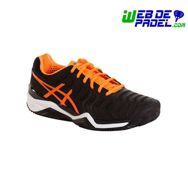 bedc1b9c1 Zapatillas Asics Resolution 7 Naranjas
