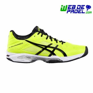 Zapatillas Asics Solution 3 Clay Amarilla