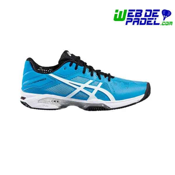 8416338e5 Zapatillas Asics Solution 3 Clay Azul