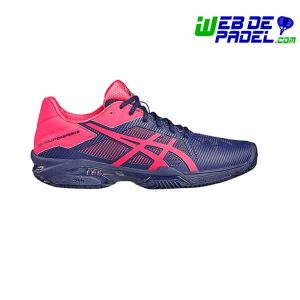 Zapatillas Asics Solution 3 Clay Rosa