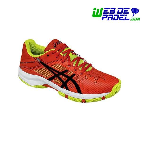 Zapatillas Asics gel solution GS roja