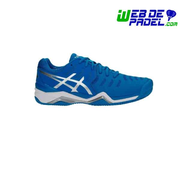 tenis asics gel resolution 7 azul originales