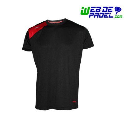 Camiseta Padel Softee Full Negro rojo
