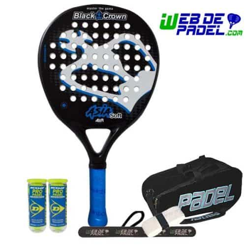 Pala de padel Black Crown Asia Soft