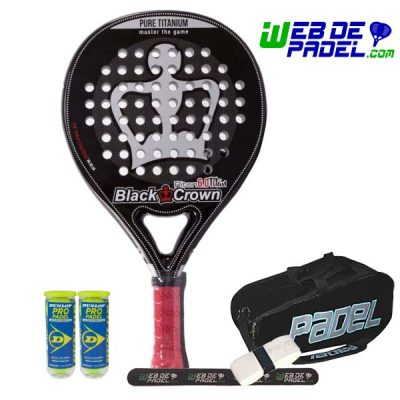 Pala de padel Black Crown Piton 6