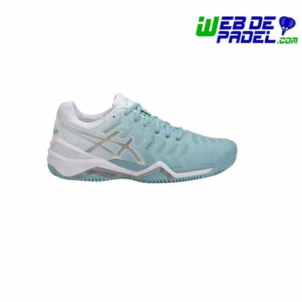 5b4bb4c38 Asics Gel Resolution 7 Clay Mujer Celeste