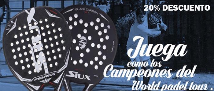Banner SIux Pegasus y pala de padel Black Carbon para comprar en tu tienda de palas de padel y deporte al mejor precio