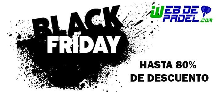 Banner ofertas bLack Friday 2018 para comprar en tu tienda de palas de padel y deporte al mejor precio