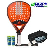 Pala de padel Adidas real power naranja
