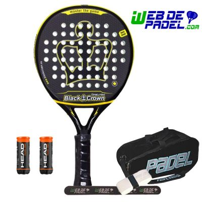 Pala de padel Black Crown Revolution