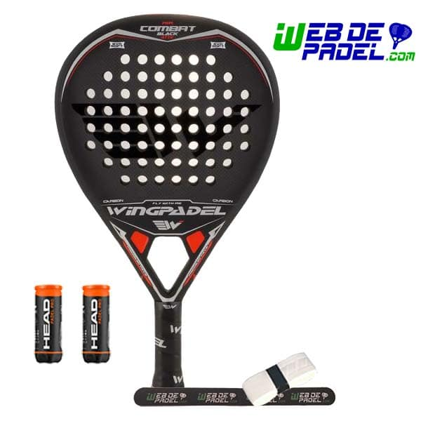 Pala de padel Wingpadel Air Combat 3 Black