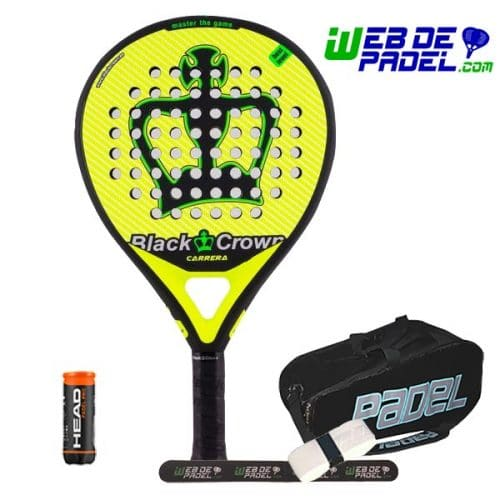 Pala de padel Black Crown Carrera