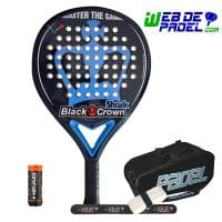 Pala de padel Black Crown Shark